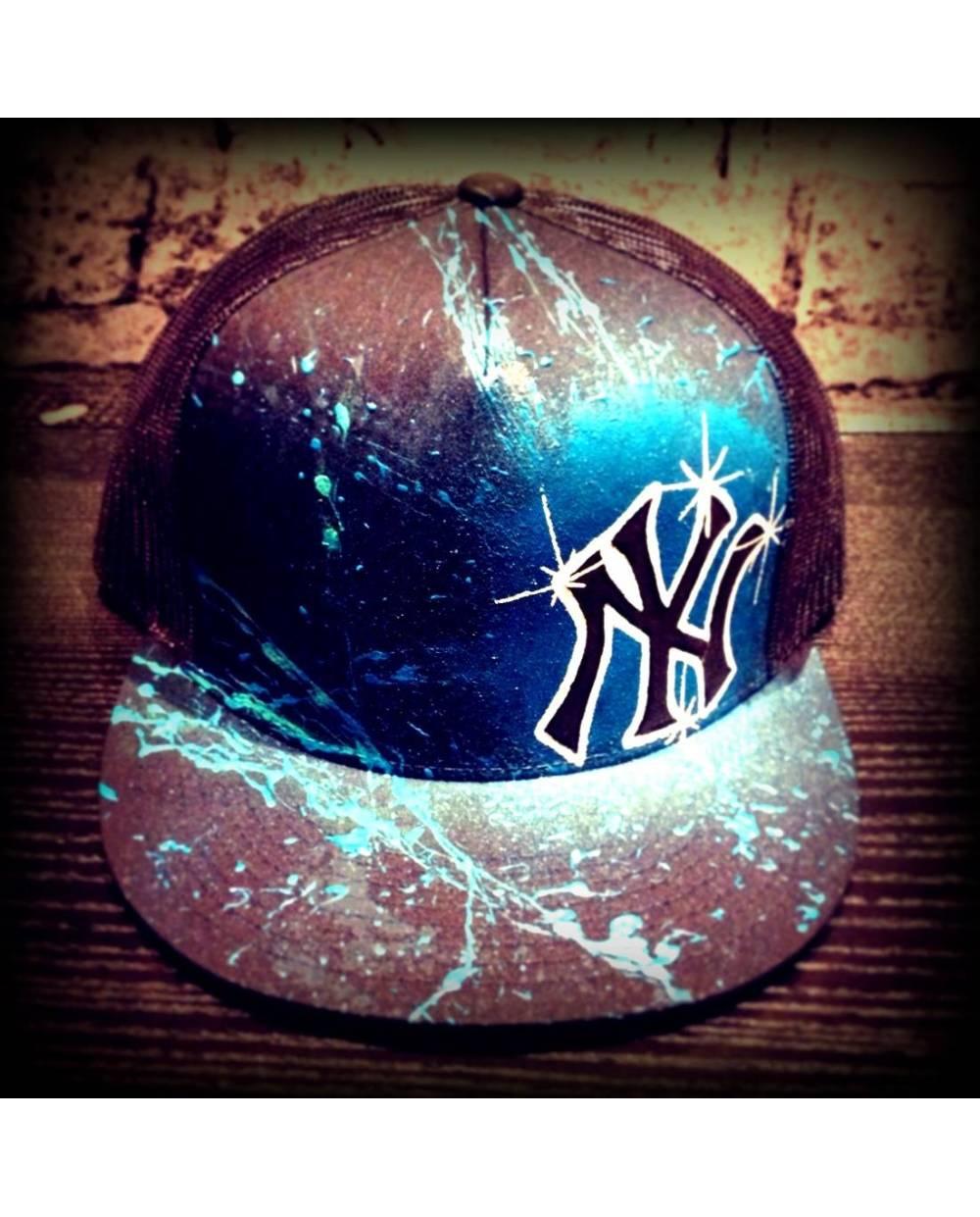 casquette new york bleue personnalisez votre casquette. Black Bedroom Furniture Sets. Home Design Ideas