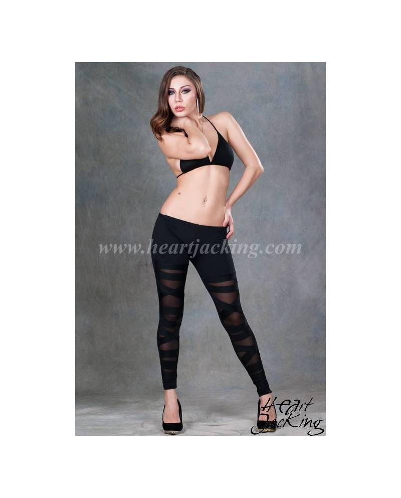 Black leggings Cuts