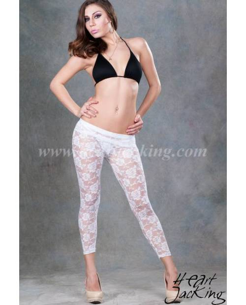 Leggings Dentelle Blanc