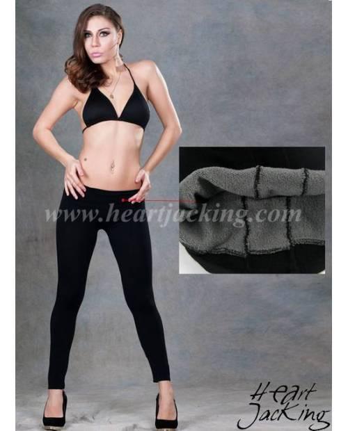 Leggings Noir Chauffant en Doublure Polaire