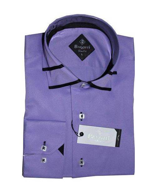 Men's Long Sleeve Shirt Violet