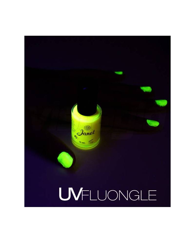 A phosphorescent painted nails