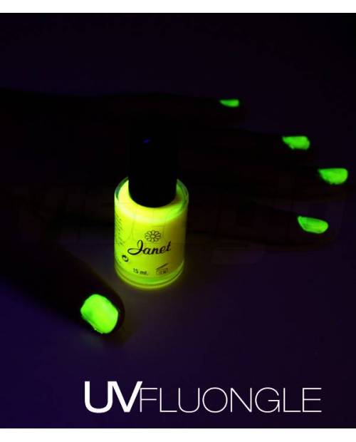 A phosphorescent painted nails