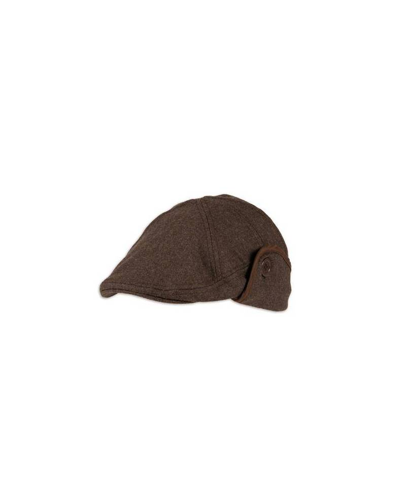 Leatherette Brown Beret