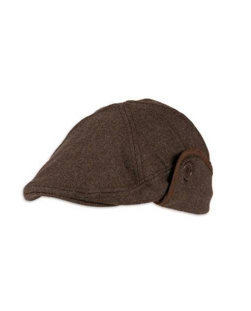 Beret Simili cuir Marron
