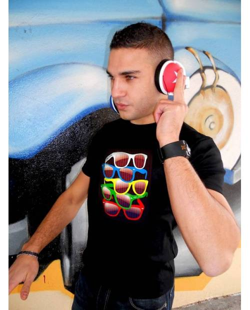 T Shirt Electro Lumineux Ray-Ban Wayfarer