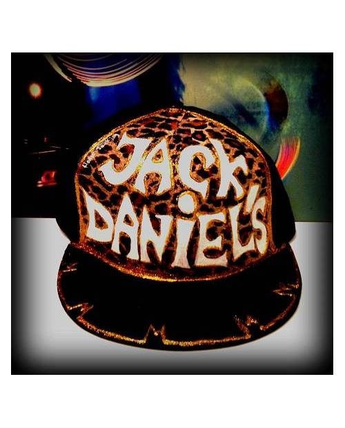 Casquette Jack Daniel's léopard à customiser