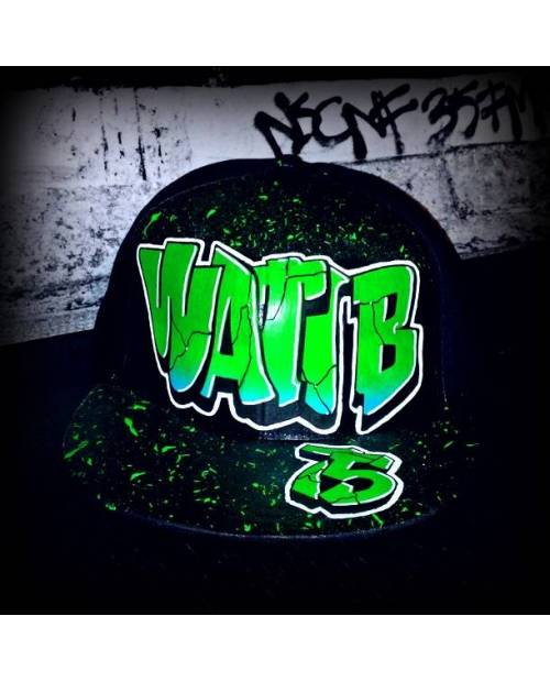 Acheter Casquette Wati B : Verte Et Noire