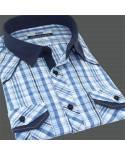 Blue shirt Dressed Man