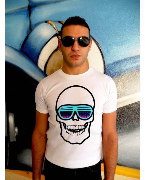 T Shirt Tqualizer Flexylight Tête de Mort
