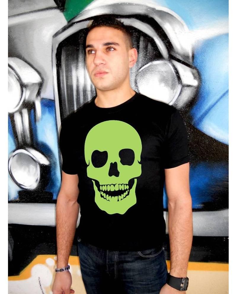 T Shirt Lazer Tete De Mort