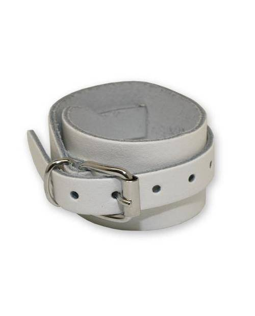 Bracelet cuir blanc
