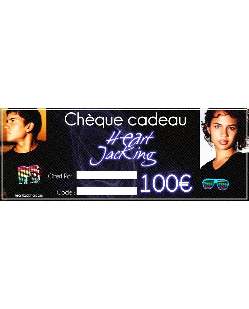 Chèque cadeaux 100euros