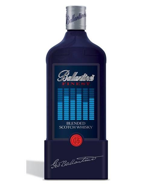 étiquette lumineuse bouteille