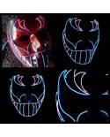 "Masque Lumineux ""Rider"" Peint Main x Leds !"