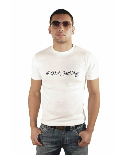 TEE SHIRT HEART JACKING CLASSIC2 BLANC HOMME