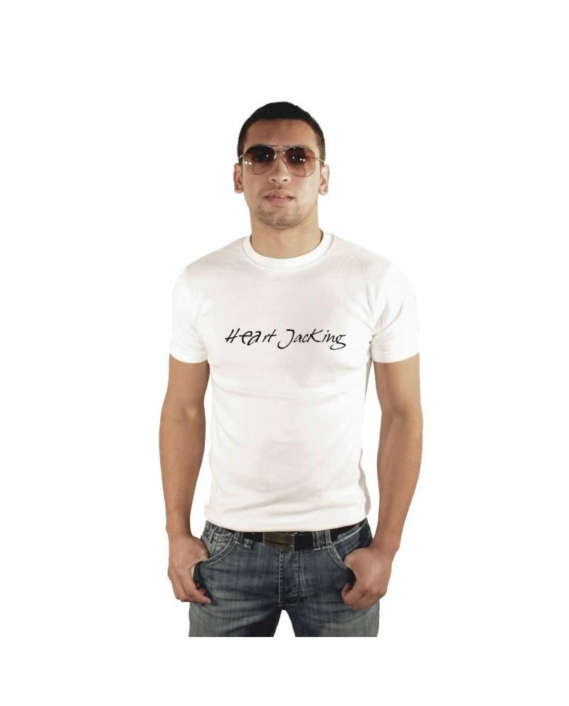 TEE SHIRT WHITE MAN HEART JACKING Classic2