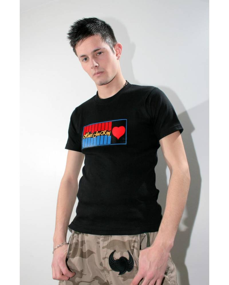 T-SHIRT RED HEART LUMINEUX EQUALIZER