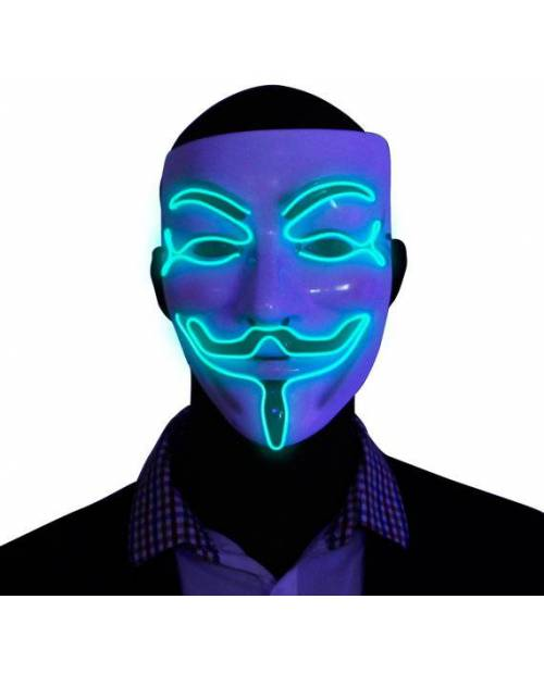 Masque anonymous lumineux