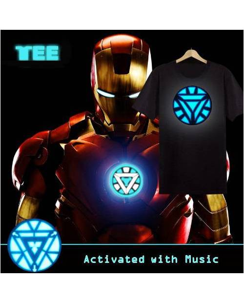 Tee Shirt Iron Man Lumineux