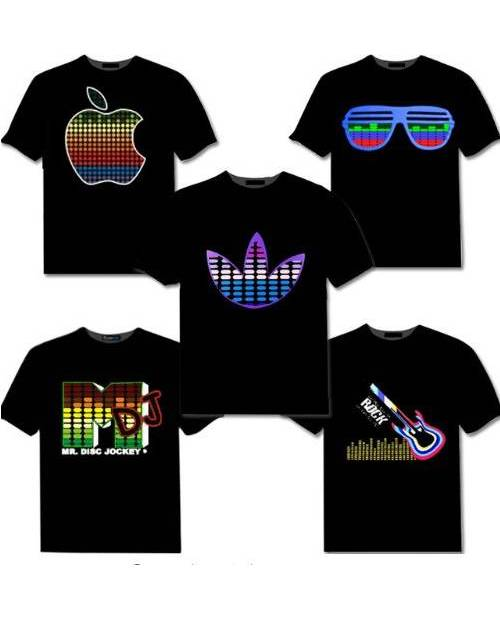 t shirt lumineux led tee shirt led anim personnalisable heart jacking. Black Bedroom Furniture Sets. Home Design Ideas