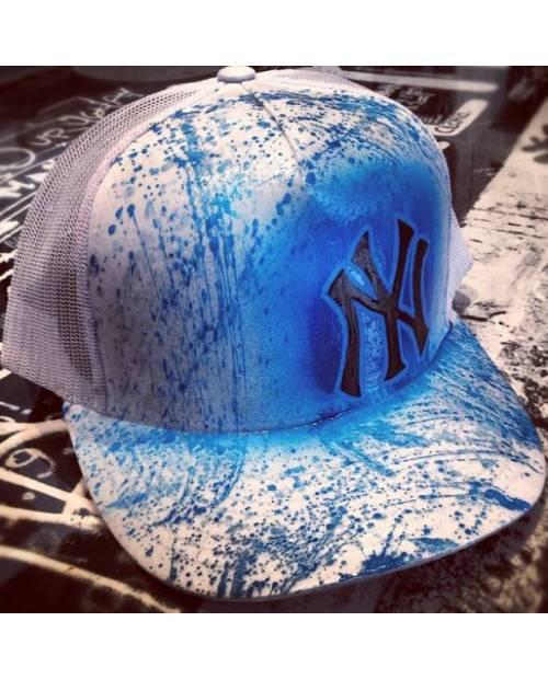 Casquette New York Bleue