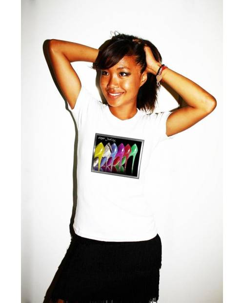 T SHIRT LIGHT LIMITED ED WHITE STILETTO