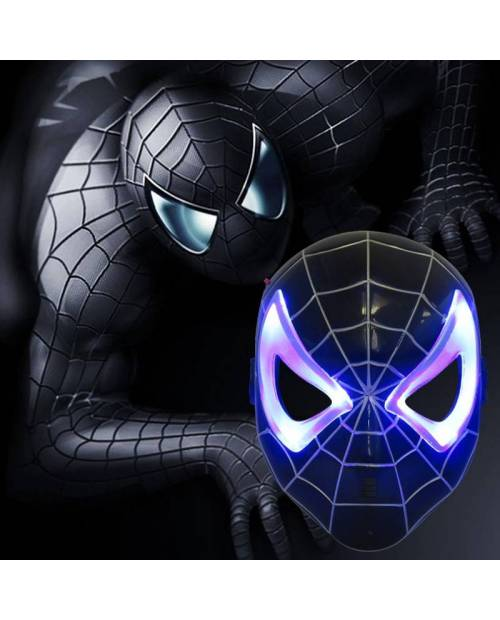 Masque Spiderman Noir Led