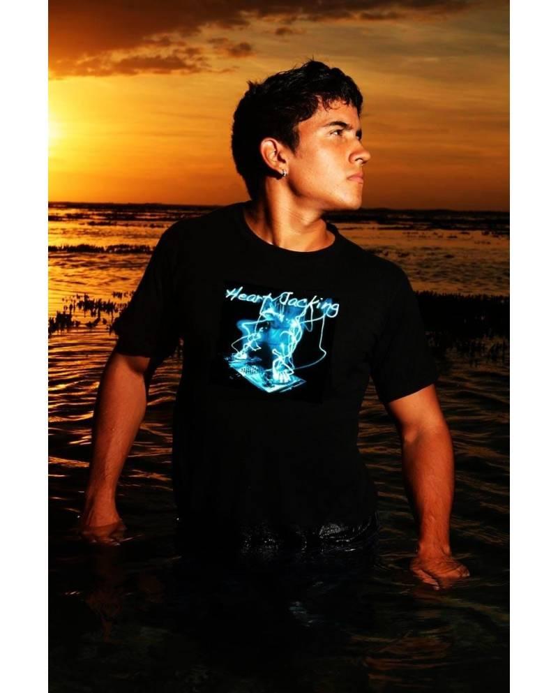 ED LIMITEE Tee Shirt Deejay Blue Equalizer