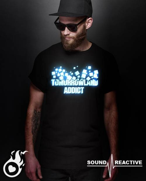 Tee shirt festival Tomorrowland LED