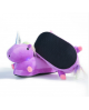 Pantoufles Licorne Violet Lumineuses