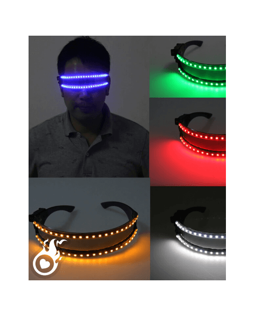 Lunettes lumineuses leds neon