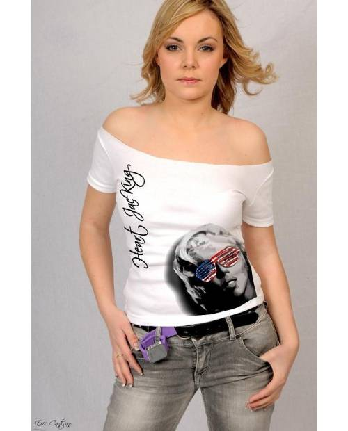 TEE SHIRT MARILYN MONROE USA COUPE SPECIALE