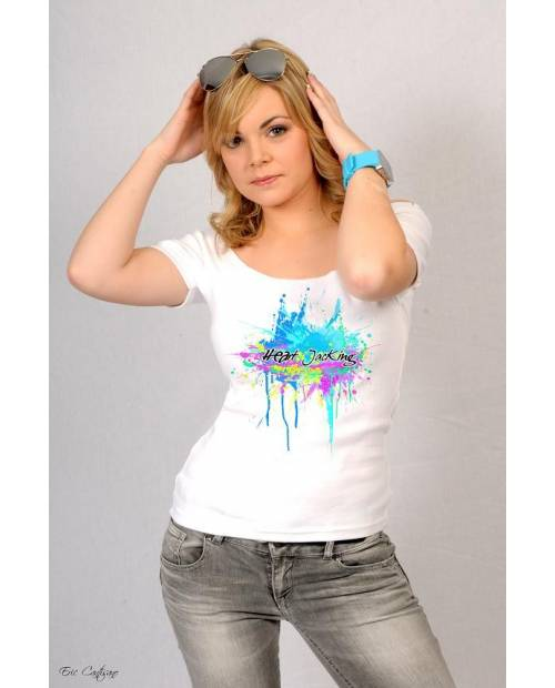 Tee Shirt Splash Blanc