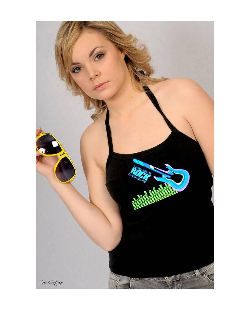 Tee Shirt Électroluminescent Guitare Femme