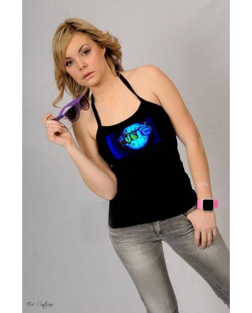 Heart Music Tee Shirt Woman Jacking