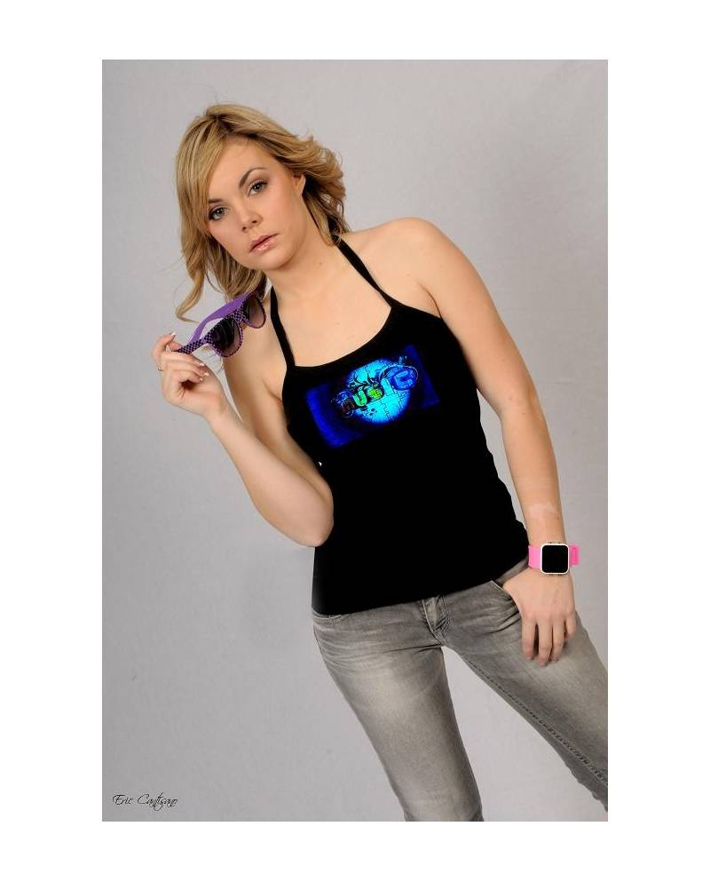 Heart Music Tee Shirt Woman Jacking