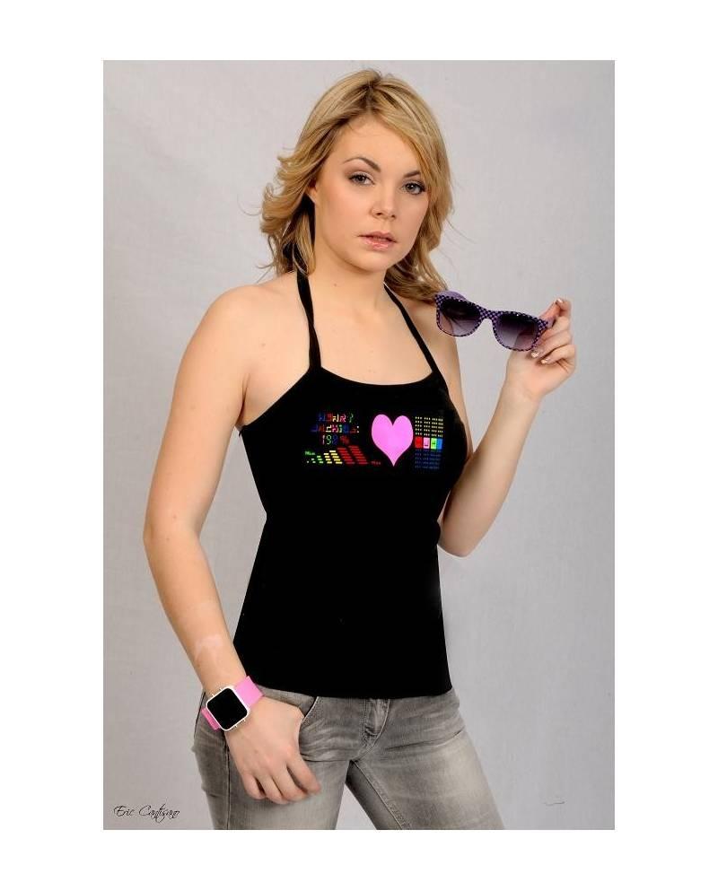 Découvrez On Line : Tee Shirt Électroluminescent PinkHeart Femme