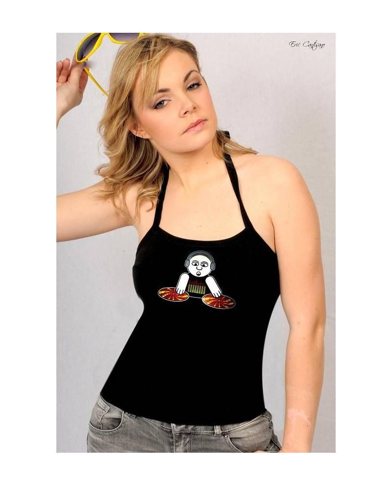 T Shirt Femme Equalizer God Is A Dj