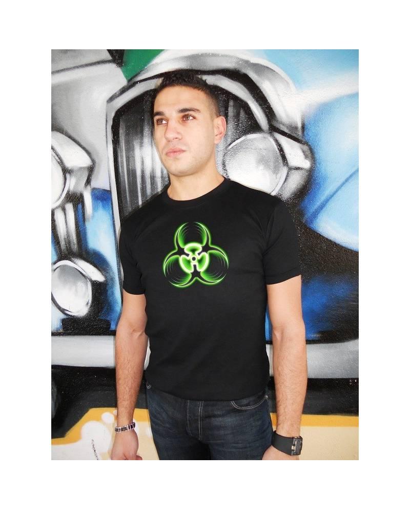 T Shirt Lumineux Biohazard