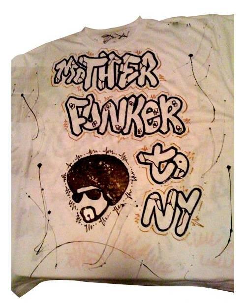 T Shirt Mother Funker Blanc