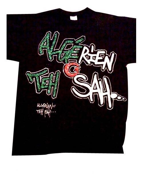 T Shirt Graffiti Algerie Teh Sah