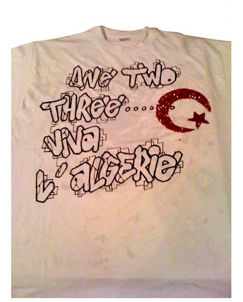 T Shirt Graffiti Viva L' Algerie