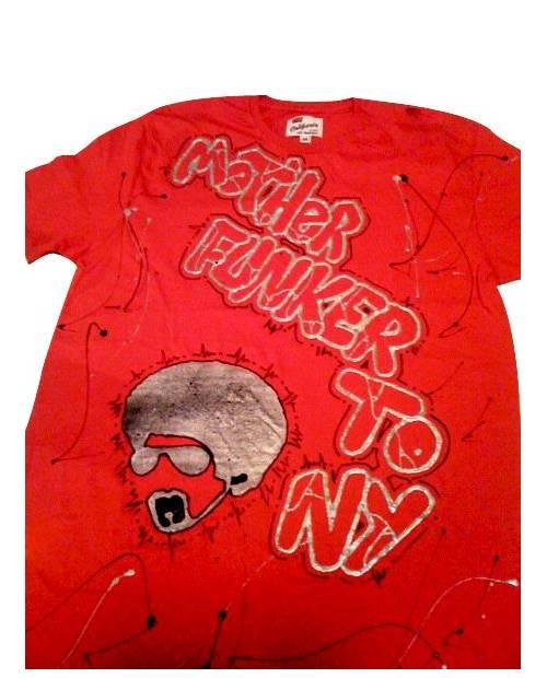 Graffiti T Shirt Mother Funker Red