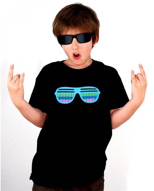 T Shirt Equalizer Enfant glasses