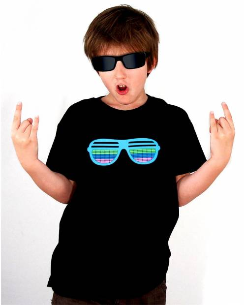 T Shirt Equalizer Enfant glasses