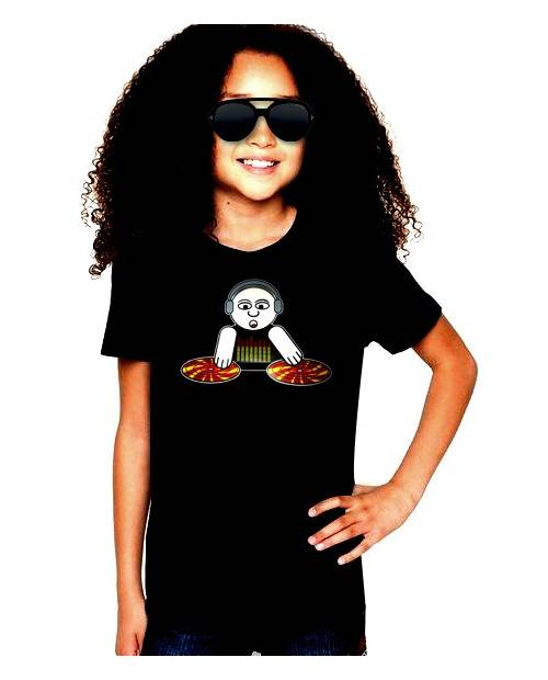 T Shirt Kids God Is A Dj