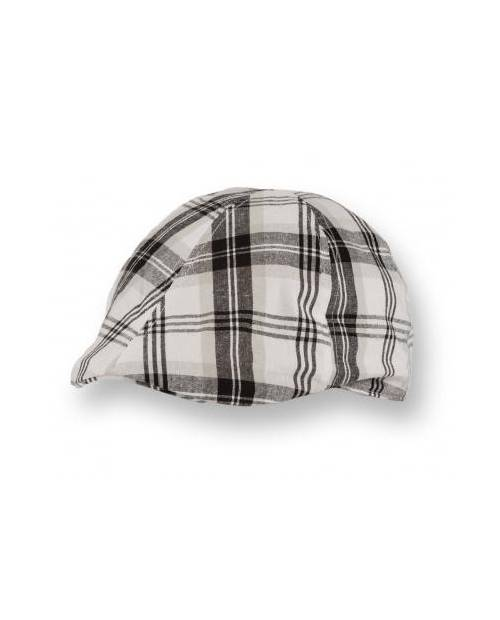 Scottish White Black Beret