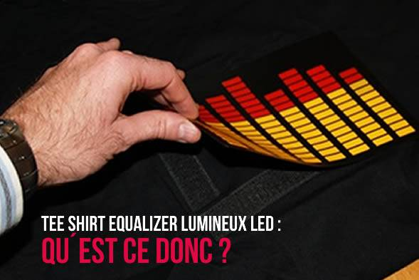 Tee-shirt equalizer lumineux led